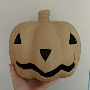 Target Brown Paper Mache Jack-o'-lantern Decor